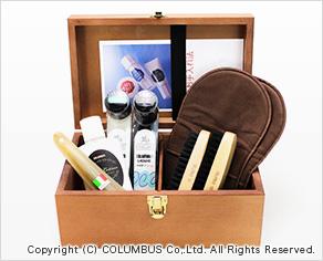 THE BOX1 (コロンブス木箱入りシューシャインキット)